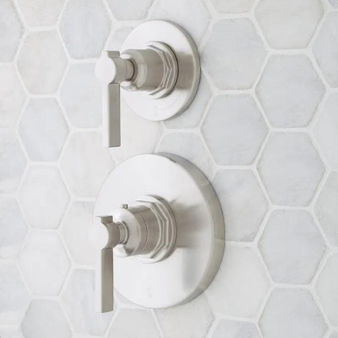 Greyfield Thermostatic Shower Valve with Volume Control Handle