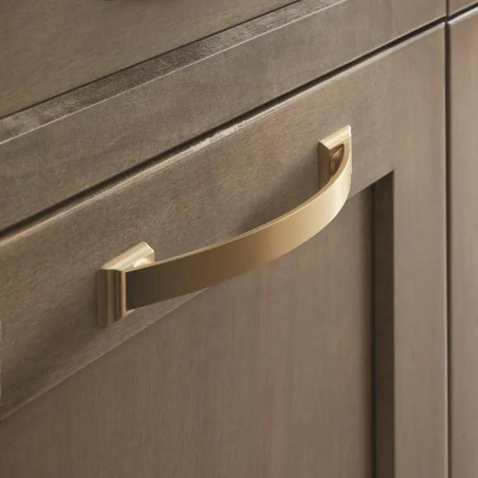 "5-1/8"" Cantrell Cabinet Pull - Golden Champagne"