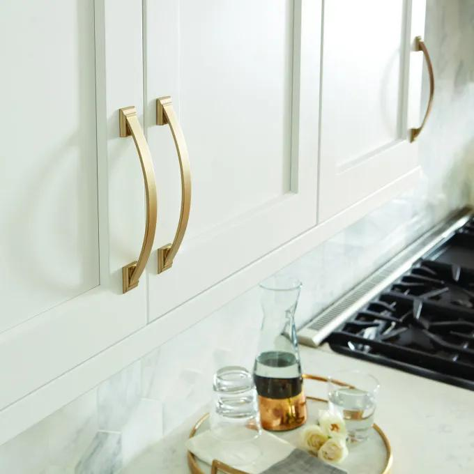 "6-3/8"" Cantrell Cabinet Pull - Golden Champagne"