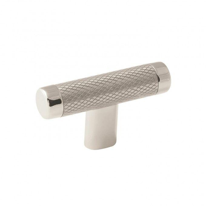 Jerico Cabinet Knob - Polished Nickel/Stainless Steel