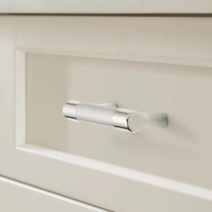 "3"" Jerico Cabinet Pull - Polished Nickel/Stainless Steel"