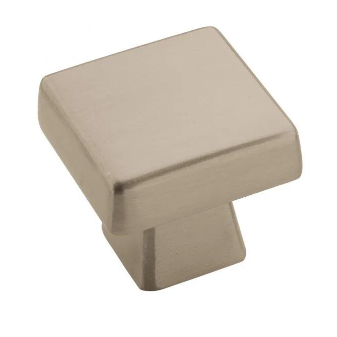 Bauman Square Cabinet Knob - Satin Nickel