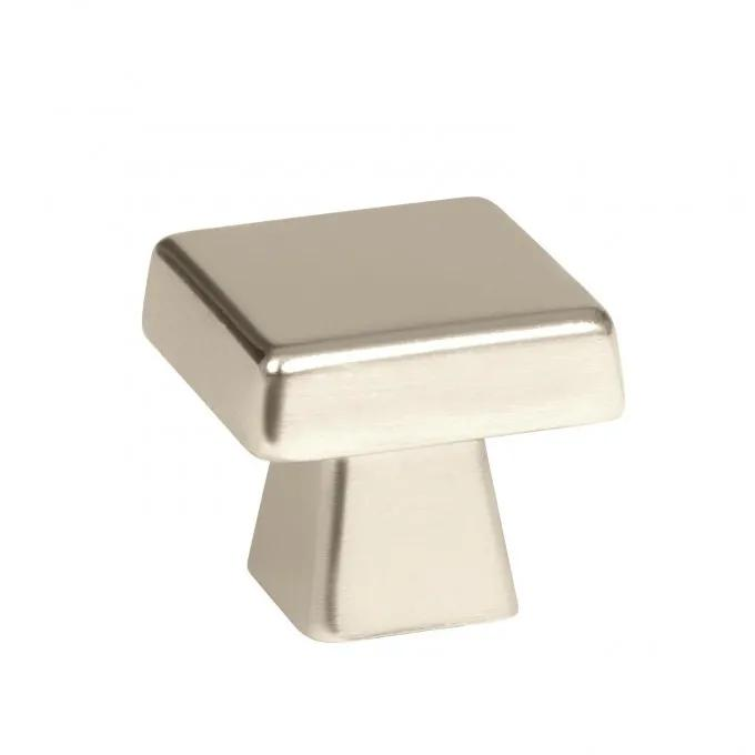Bauman Square Cabinet Knob - Polished Nickel