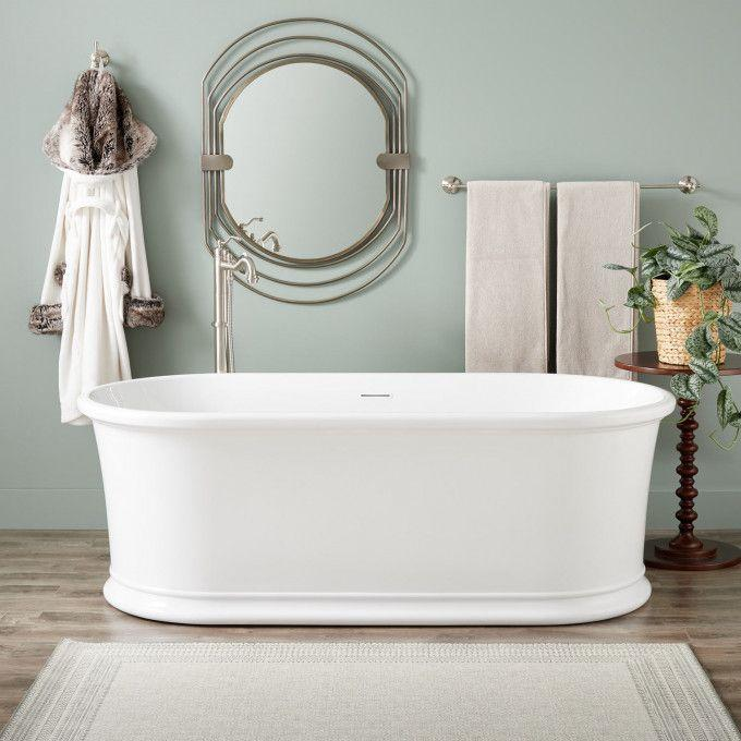 "66"" Halliford Acrylic Freestanding Tub"