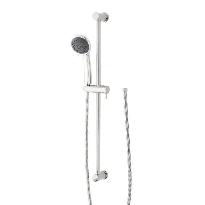 Contemporary Round Multifunction Hand Shower and Slide Bar - Chrome