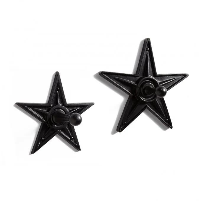 Cast Iron Star Coat Hook - Black Powder Coat