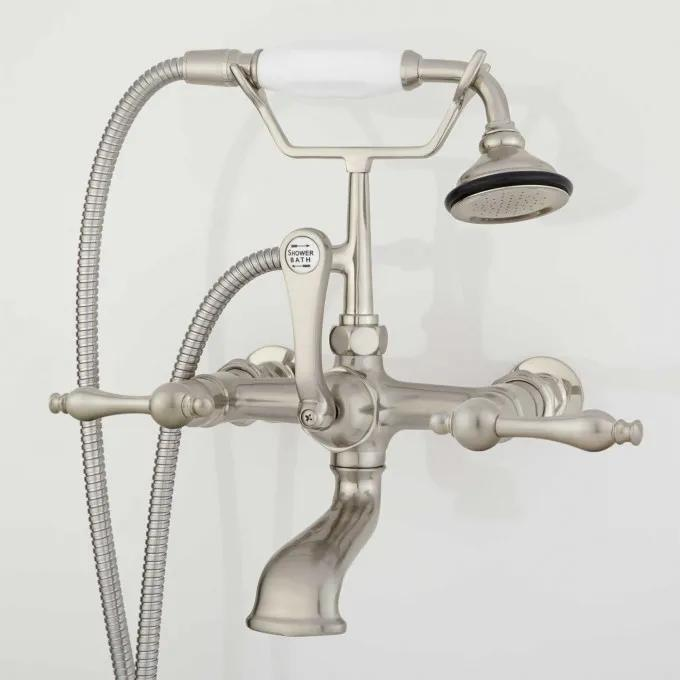 Wall-Mount Telephone Faucet & Hand Shower - Brushed Nickel