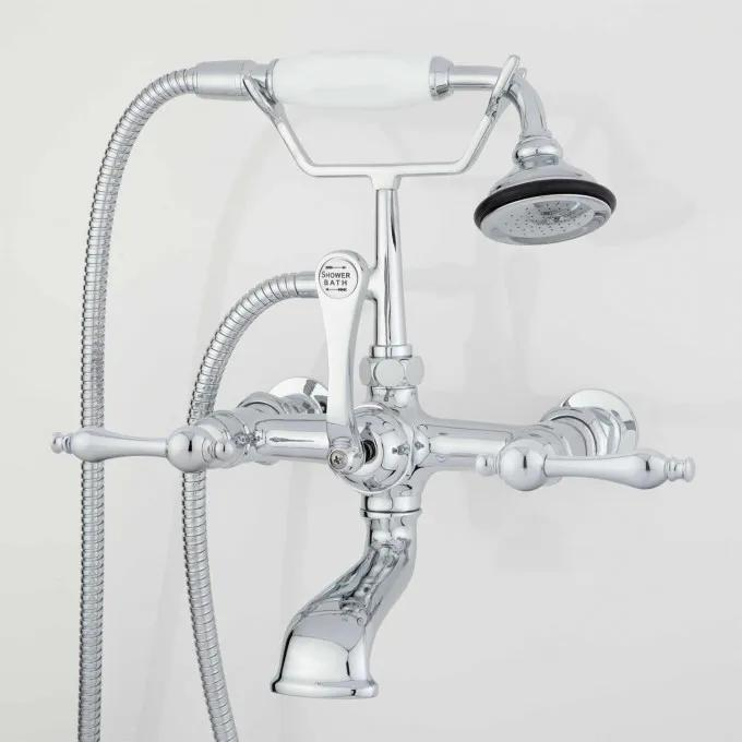 Wall-Mount Telephone Faucet & Hand Shower - Chrome