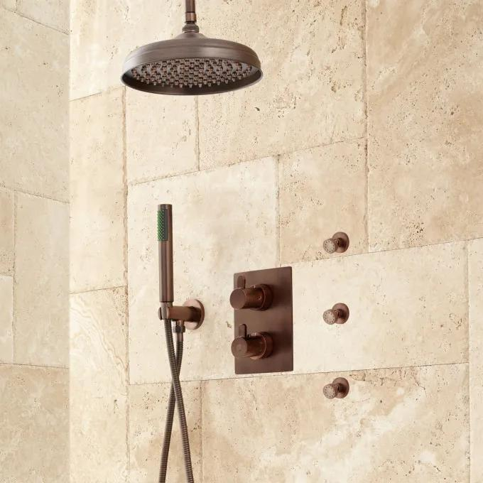 Hinson Rainfall Shower System with Body Sprays