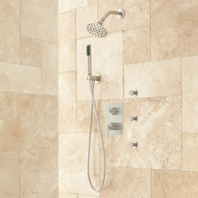 Trimble Shower System with Hand Shower and Body Sprays