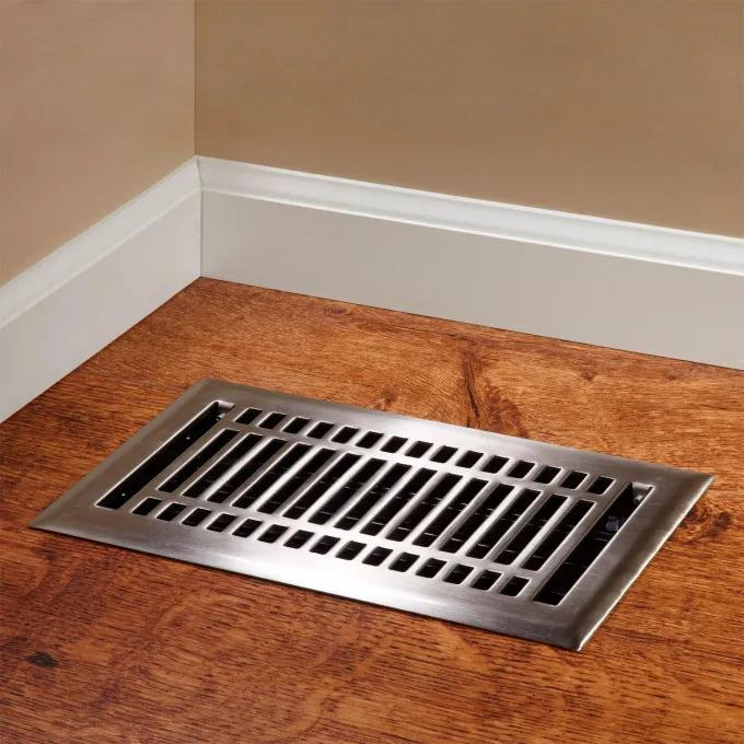Contemporary Steel Floor Register