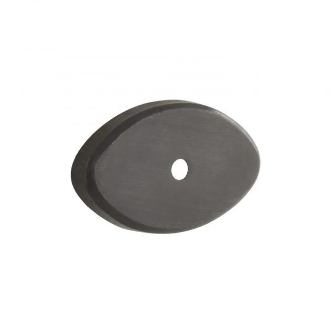 "2"" Solid Bronze Oval Base Plate - Bronze Patina"