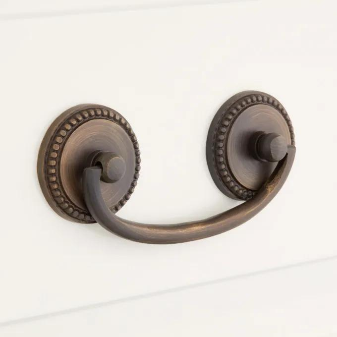 Kendon Solid Brass Drawer Pull - Antique Brass