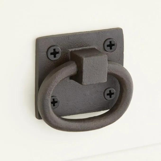 Curry Solid Bronze Drawer Pull - Bronze Patina