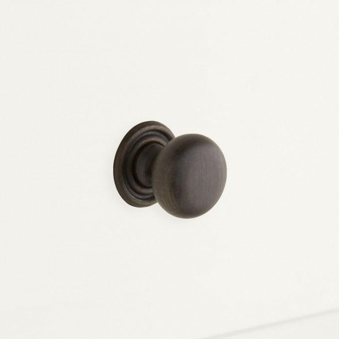 Brass Traditional Knob - Oil Rubbed Bronze