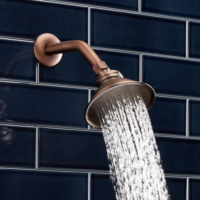 "Windom Watering Can Shower Head - 8"" Shower Arm - Oil Rubbed Bronze"