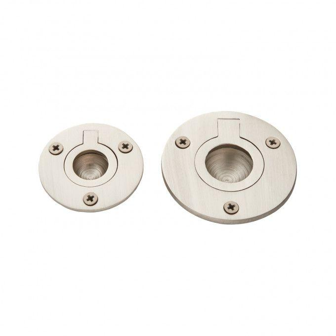 Small Round Recessed Ring Pull - Brushed Nickel