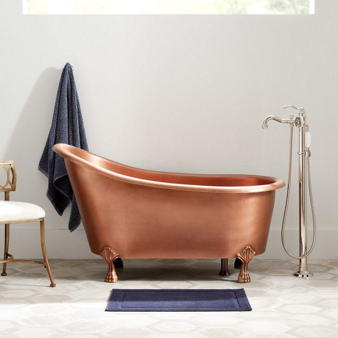 Norah Victorian Copper Slipper Clawfoot Tub