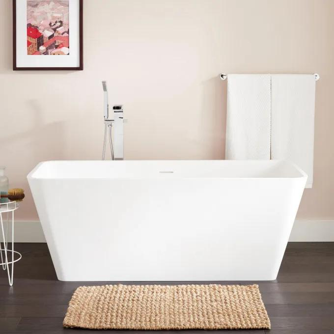 "59"" Kelem Resin Freestanding Tub - Matte Finish"