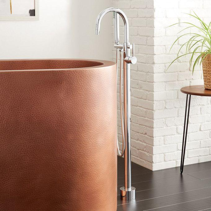 Carissa Freestanding Tub Faucet and Hand Shower