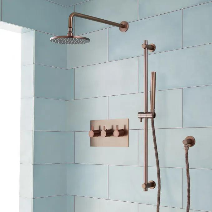 Tosca Thermostatic Shower System with Rainfall Shower and Hand Shower - Oil Rubbed Bronze