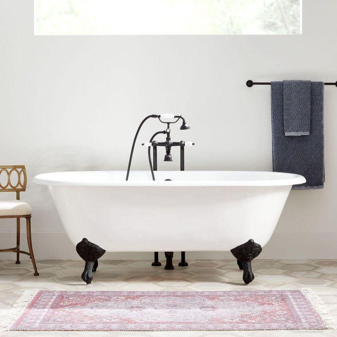 Sanford Cast Iron Clawfoot Tub - Imperial Feet