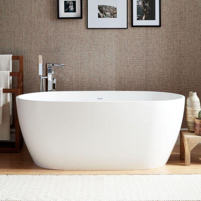 """59"""" Ocala Solid Surface Freestanding Tub"""
