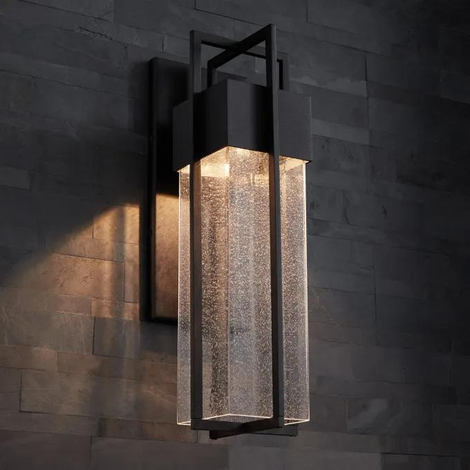 """20"""" Fulcher Outdoor LED Entrance Wall Sconce - Black"""
