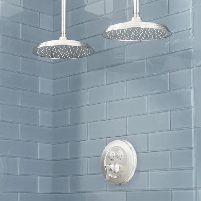 Pendleton Simple Select Dual Shower Head Shower System