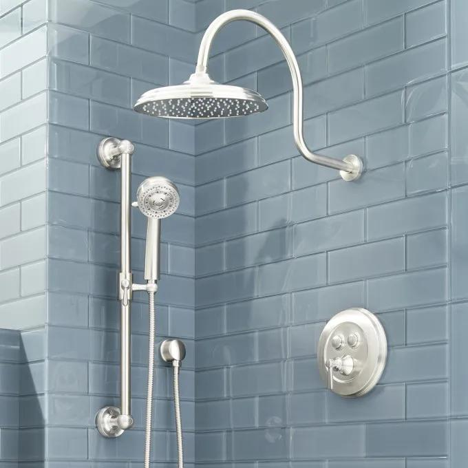 Pendleton Simple Select Shower System with Rainfall Shower and Hand Shower