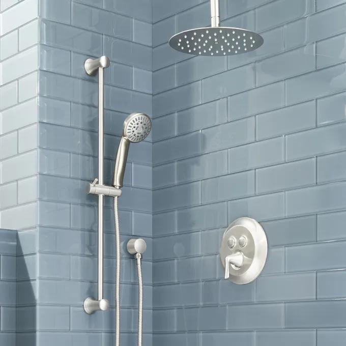 Provincetown Simple Select Shower System with Rainfall Shower and Hand Shower