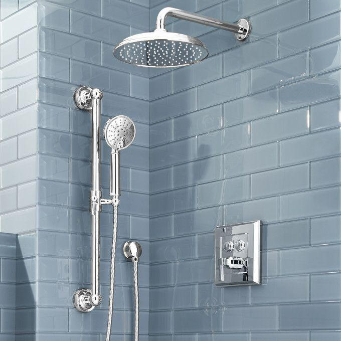 Pinecrest Simple Select Shower System with Rainfall Shower and Hand Shower - Lever Handle
