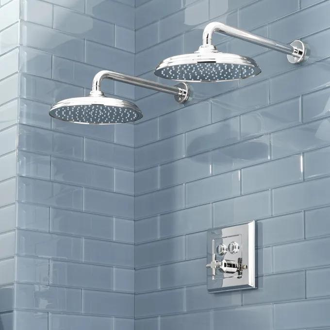 Pinecrest Simple Select Dual Shower Head Shower System - Cross Handle