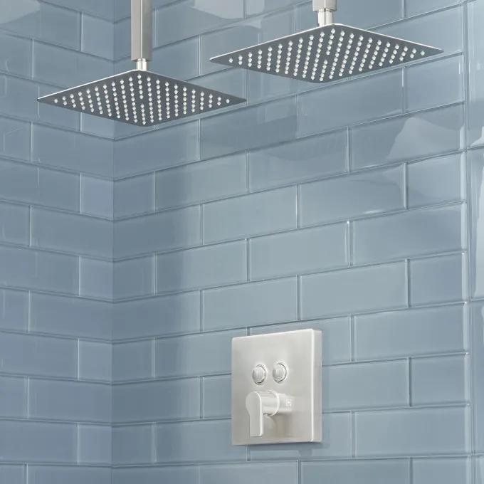Hibiscus Simple Select Dual Shower Head Shower System