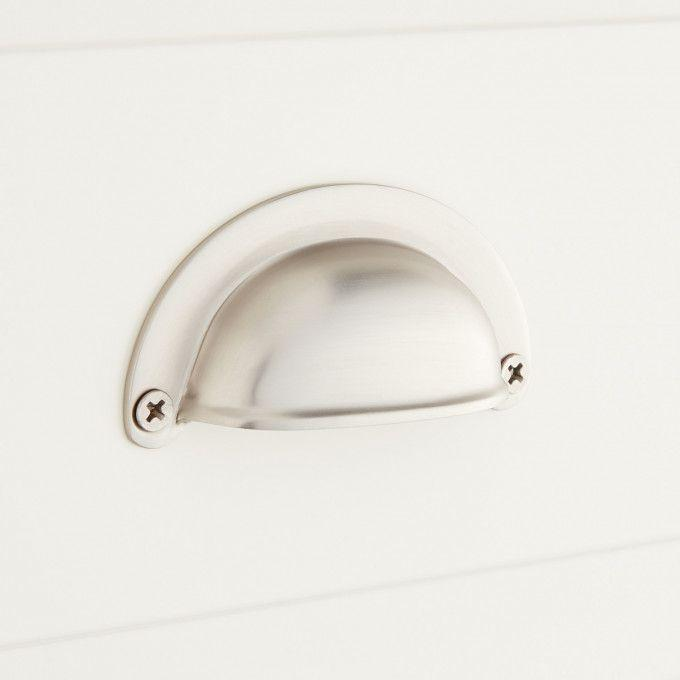 Ansel Brass Cup Pull - Brushed Nickel