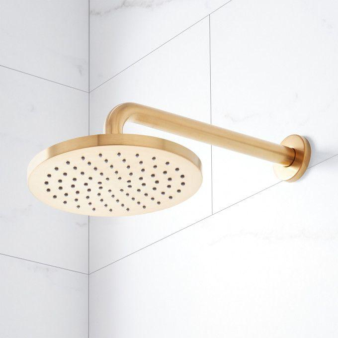 Wall-Mount Shower Head - Brushed Gold