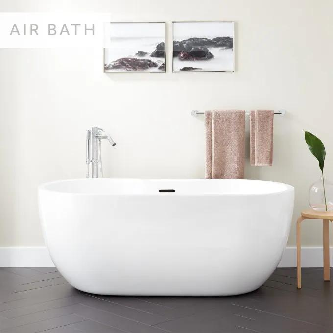 "56"" Boyce Acrylic Freestanding Tub - Air Massage"