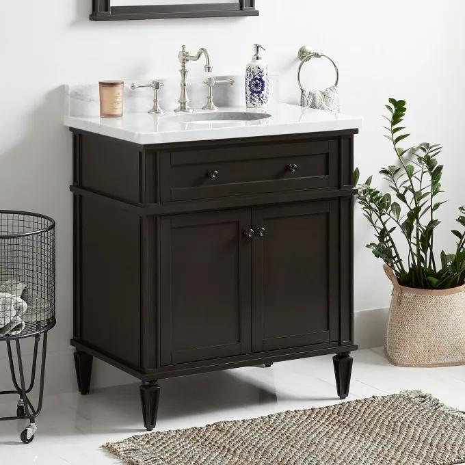 "30"" Elmdale Vanity for Undermount Sink - Charcoal Black"