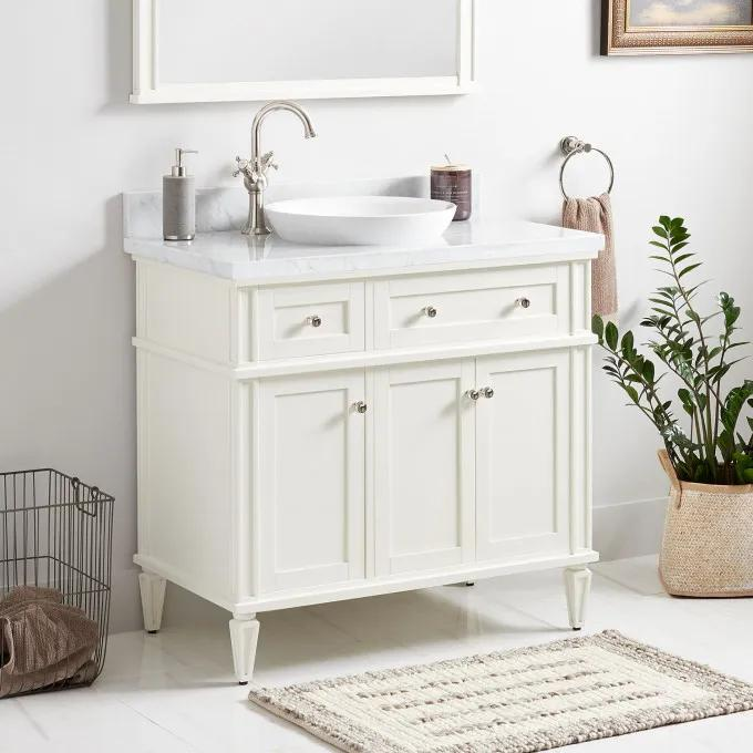 "36"" Elmdale Vanity for Semi-Recessed Sink - White"