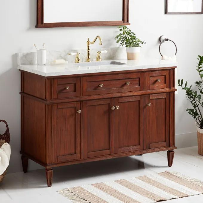 "48"" Elmdale Vanity for Rectangular Undermount Sink - Antique Brown"