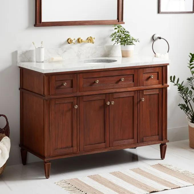 Vanity Top with No Faucet Holes