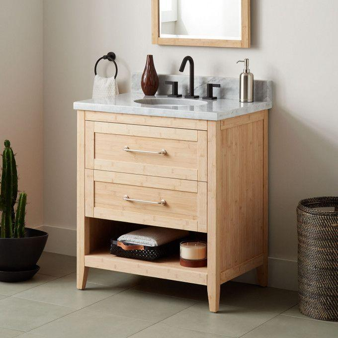 """30"""" Burfield Bamboo Vanity for Undermount Sink - Natural Bamboo"""