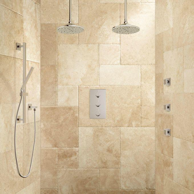 Labelle Thermostatic Dual Shower System - Chrome