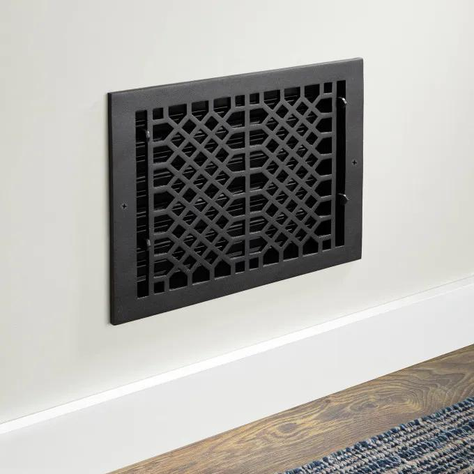 Oversized Antique Cast Iron Wall Register
