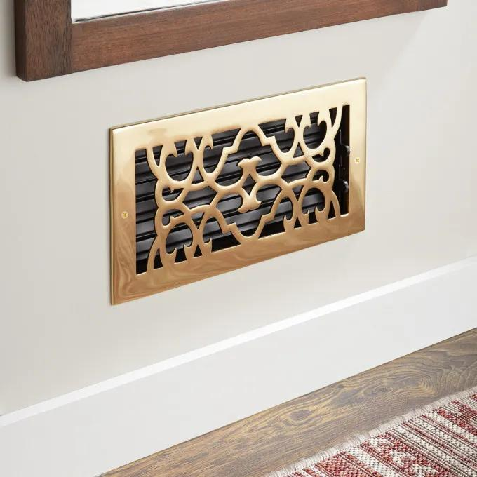 Traditional Solid Brass Wall Register