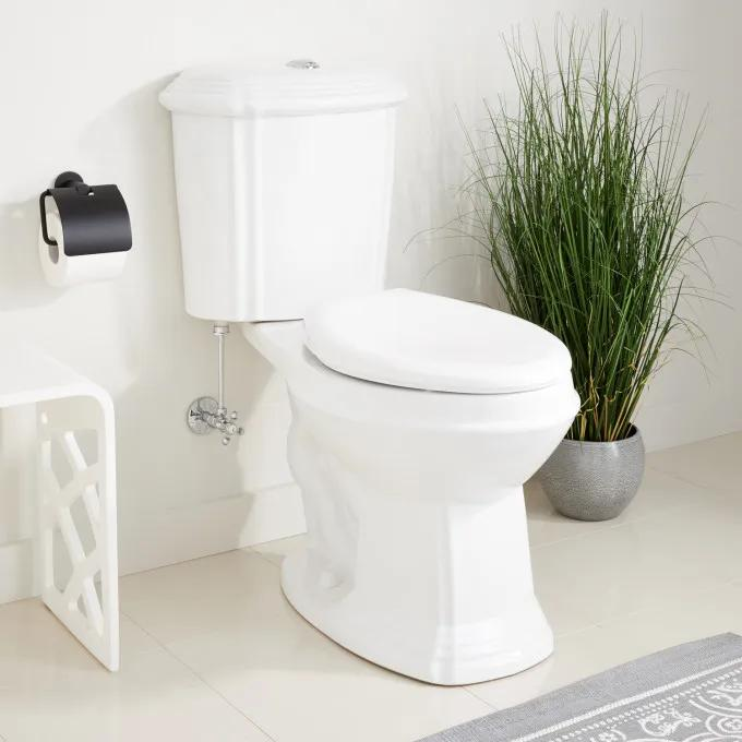 Regent Dual-Flush Water Closet - Elongated Bowl in White