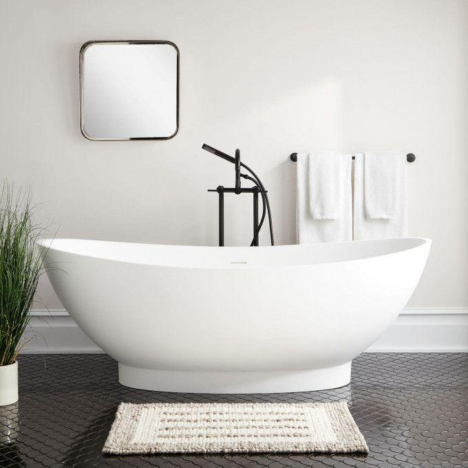 "71"" Brielle Resin Freestanding Tub"