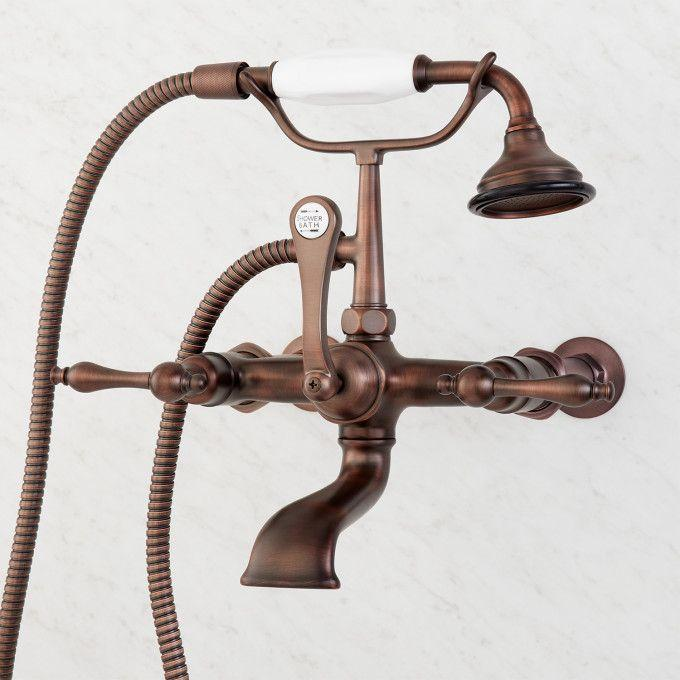 Wall-Mount Telephone Faucet and Hand Shower - Lever Handle - Oil Rubbed Bronze