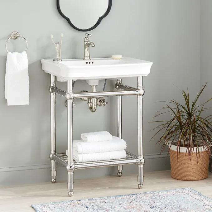 Eastcott Console Sink with Traditional Top