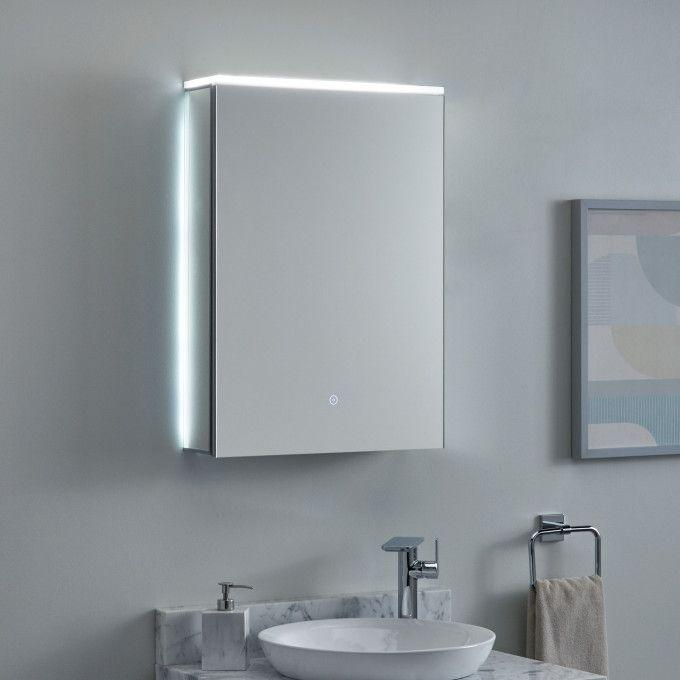 Pallas Lighted Medicine Cabinet with Tunable LED and Electrical Outlet